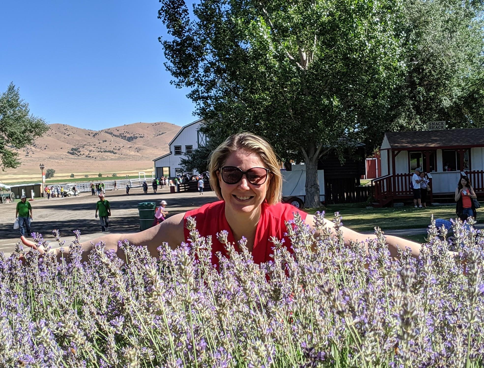 Sharron in the lavender